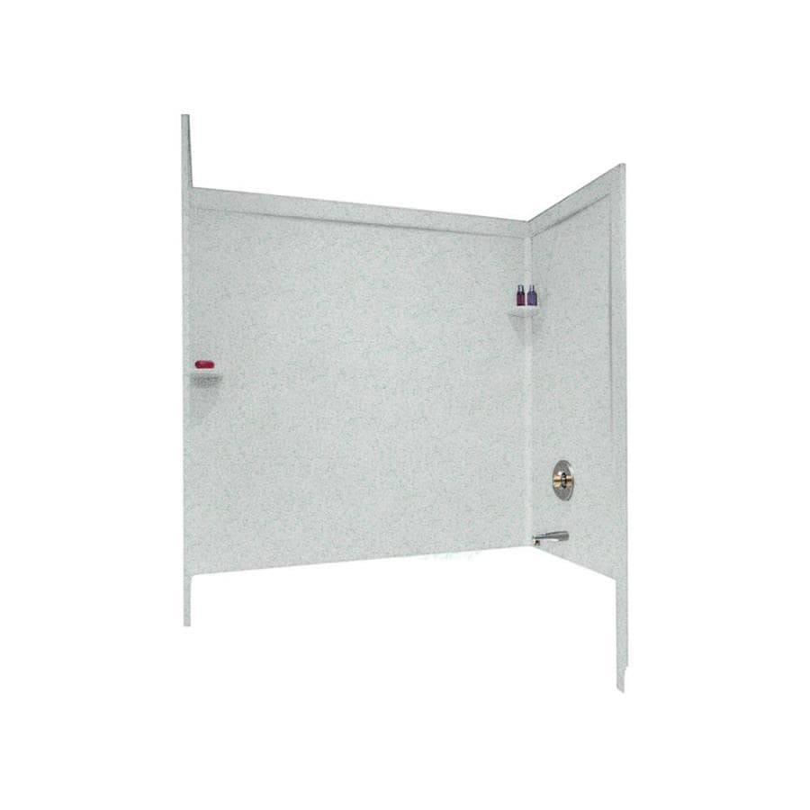 Swanstone Tahiti Gray Solid Surface Bathtub Wall Surround (Common: 33-in x 60-in; Actual: 60-in x 33.5-in x 60-in)