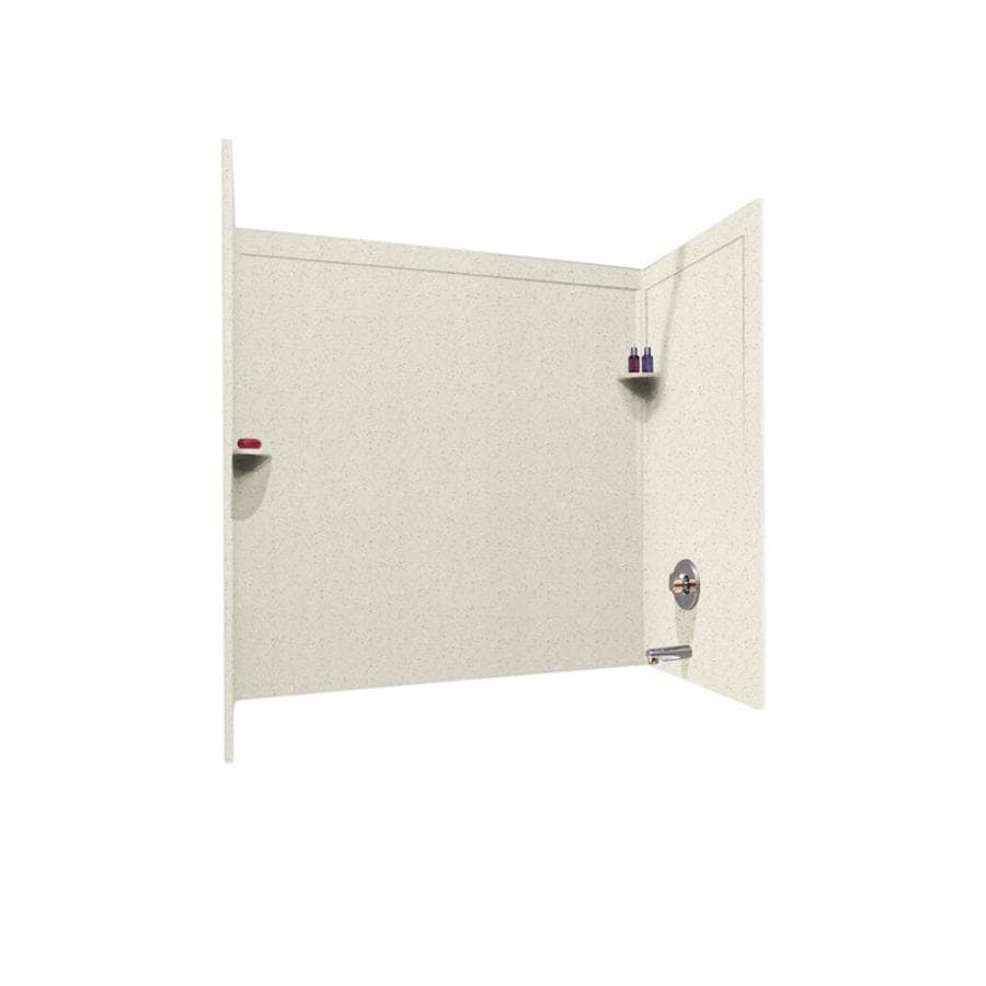 Swanstone Tahiti Matrix Solid Surface Bathtub Wall Surround (Common: 33-in x 60-in; Actual: 60-in x 33.5-in x 60-in)