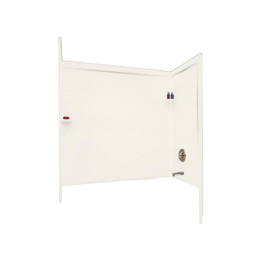 Swanstone Tahiti Ivory Solid Surface Bathtub Wall Surround (Common: 33-in x 60-in; Actual: 60-in x 33.5-in x 60-in)