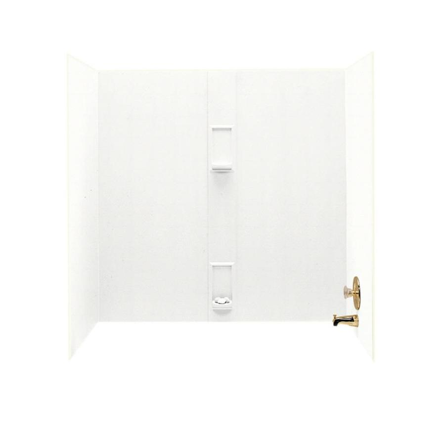 Swanstone Tahiti White Solid Surface Bathtub Wall Surround (Common: 30-in x 60-in; Actual: 60-in x 30-in x 60-in)
