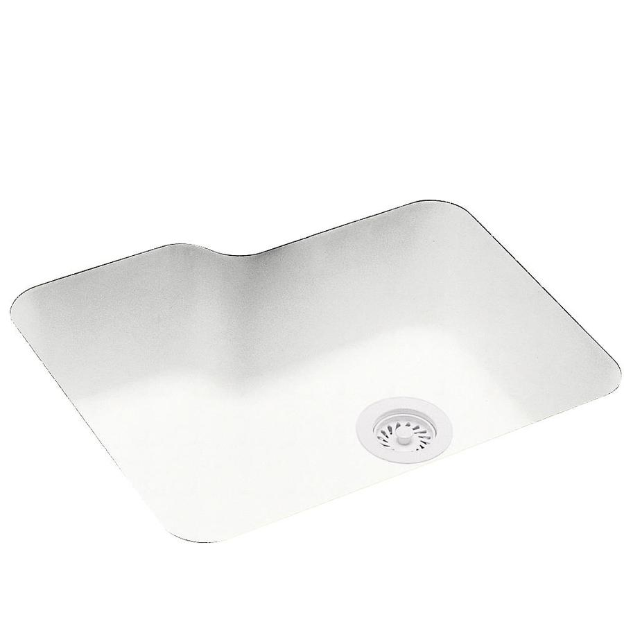 Swanstone 21.25-in x 25-in Tahiti White Single-Basin Composite Undermount Residential Kitchen Sink
