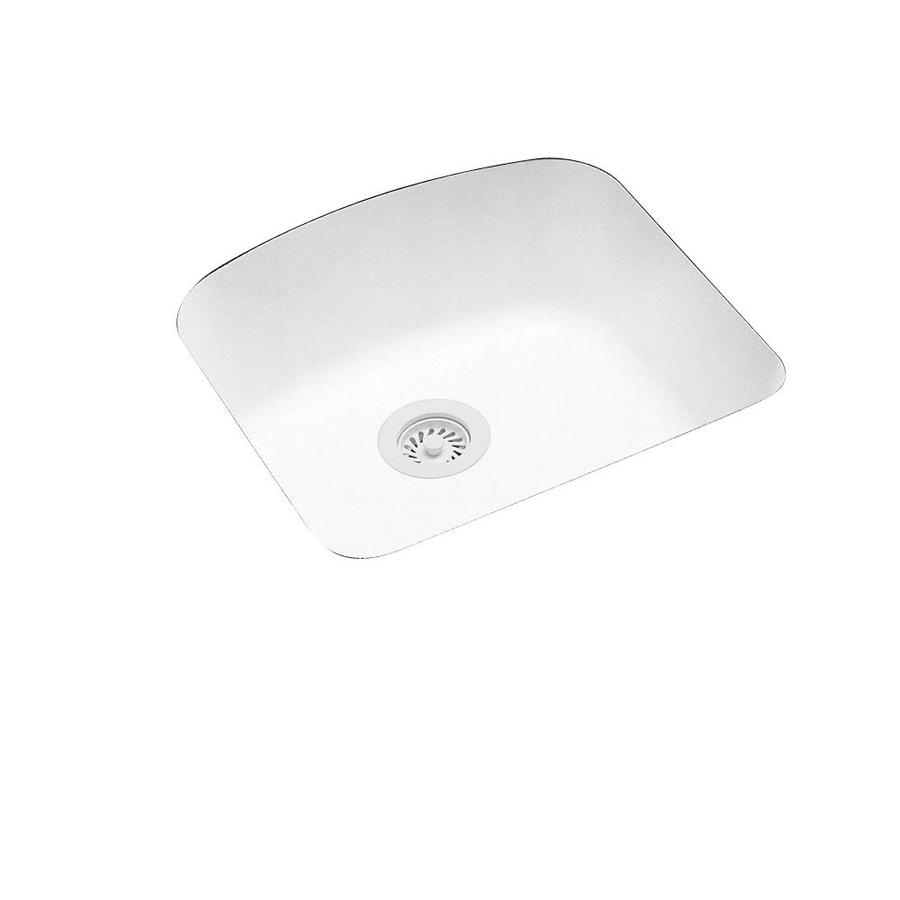 Swanstone 20.25-in x 21-in Tahiti White Single-Basin Composite Undermount Residential Kitchen Sink