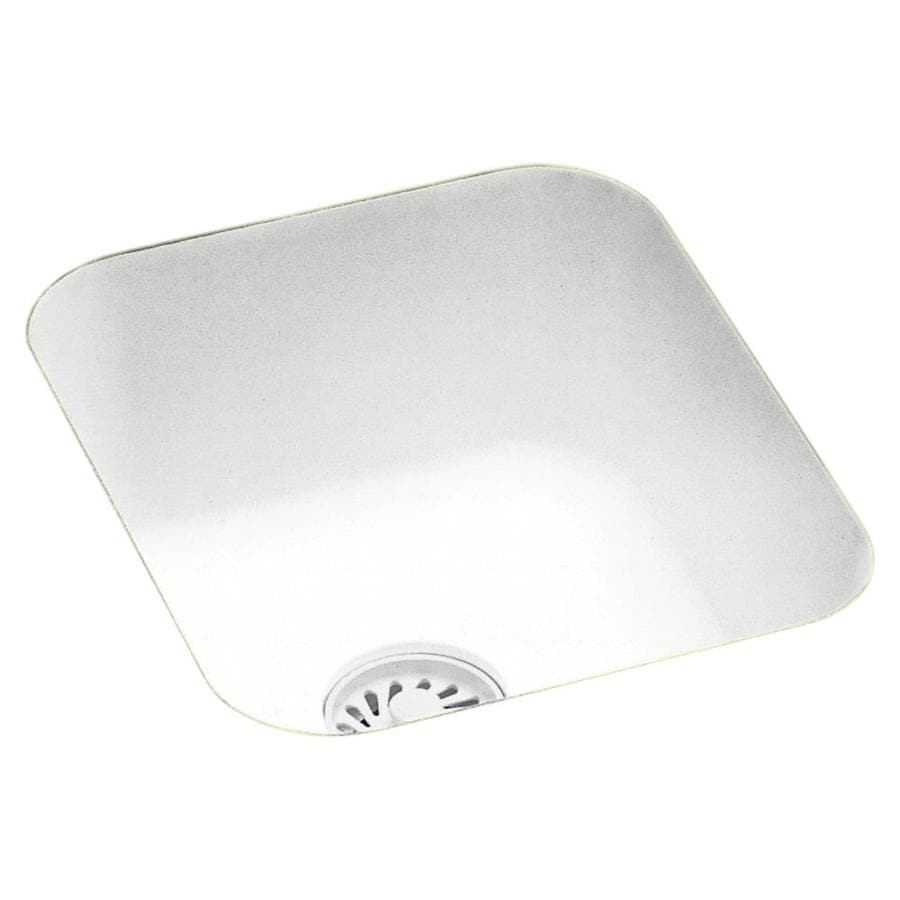 Swanstone Tahiti White Single-Basin Composite Undermount Residential Bar Sink
