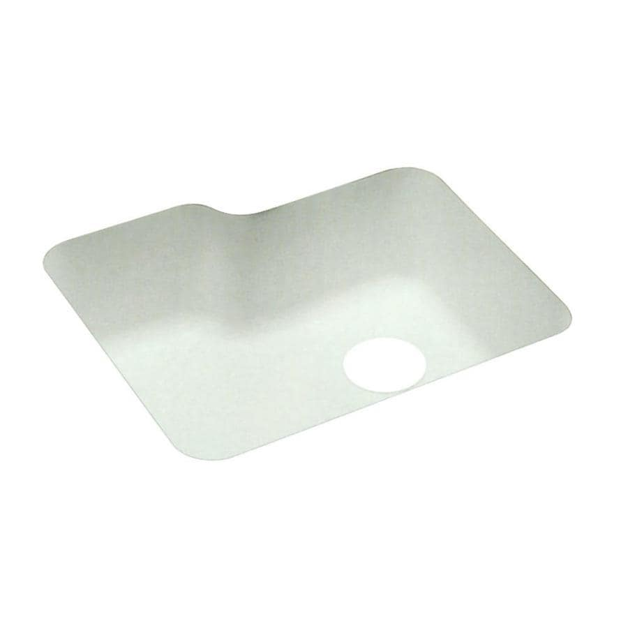 Swanstone 21.25-in x 25-in White Single-Basin-Basin Composite Undermount (Customizable)-Hole Residential Kitchen Sink