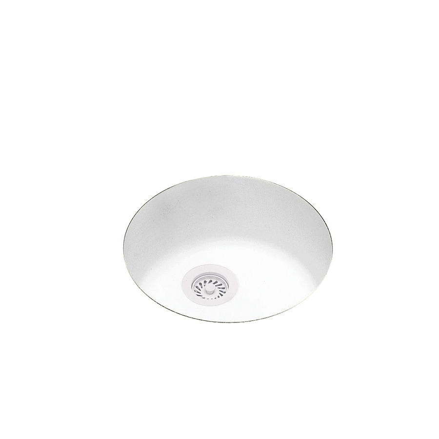 Swanstone White Composite Undermount Residential Prep Sink