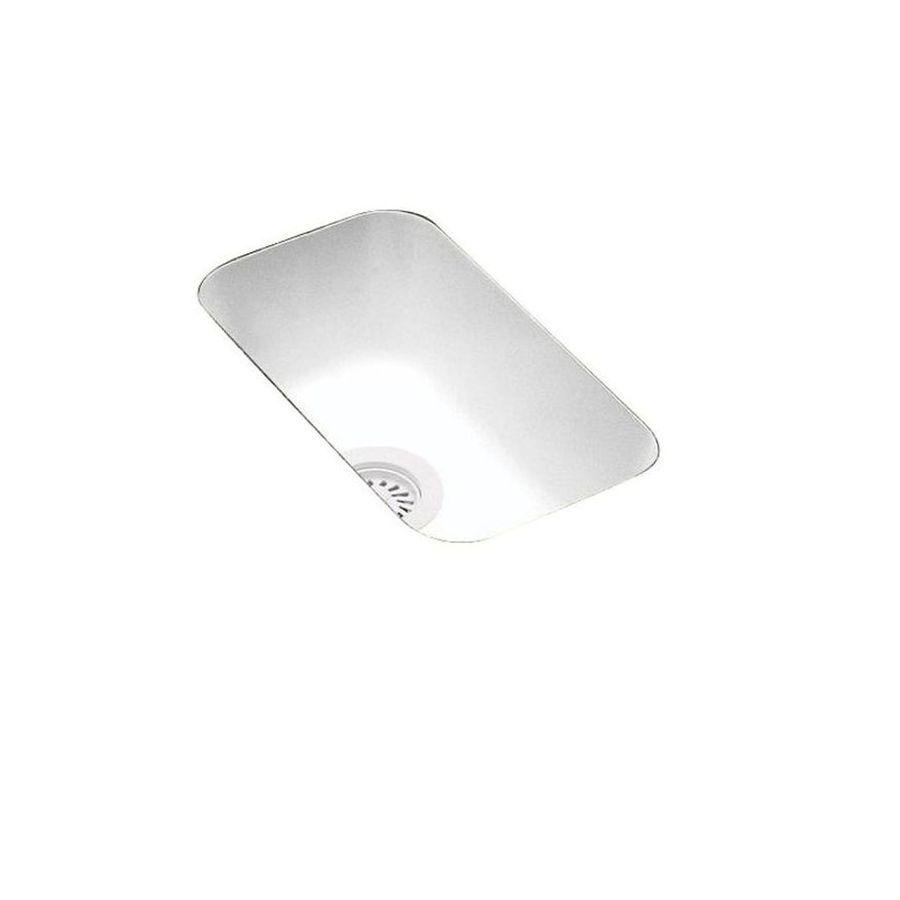 Swanstone White Composite Undermount Residential Bar Sink