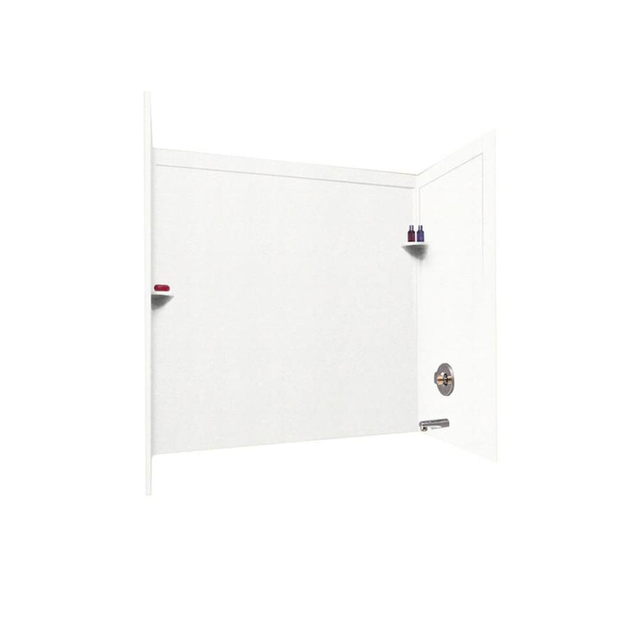 Swanstone Tahiti White Solid Surface Bathtub Wall Surround (Common: 33-in x 60-in; Actual: 60-in x 33.5-in x 60-in)