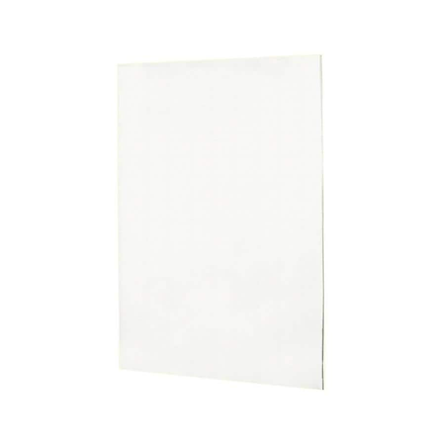 Swanstone Tahiti White Shower Wall Surround Back Wall Panel (Common: 0.25-in x 60-in; Actual: 60-in x 0.25-in x 60-in)