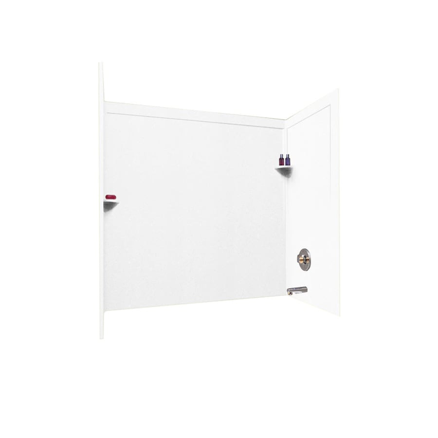 Swanstone Solid Surface Bathtub Wall Surround (Common: 33-in x 60-in; Actual: 60-in x 33.5-in x 60-in)