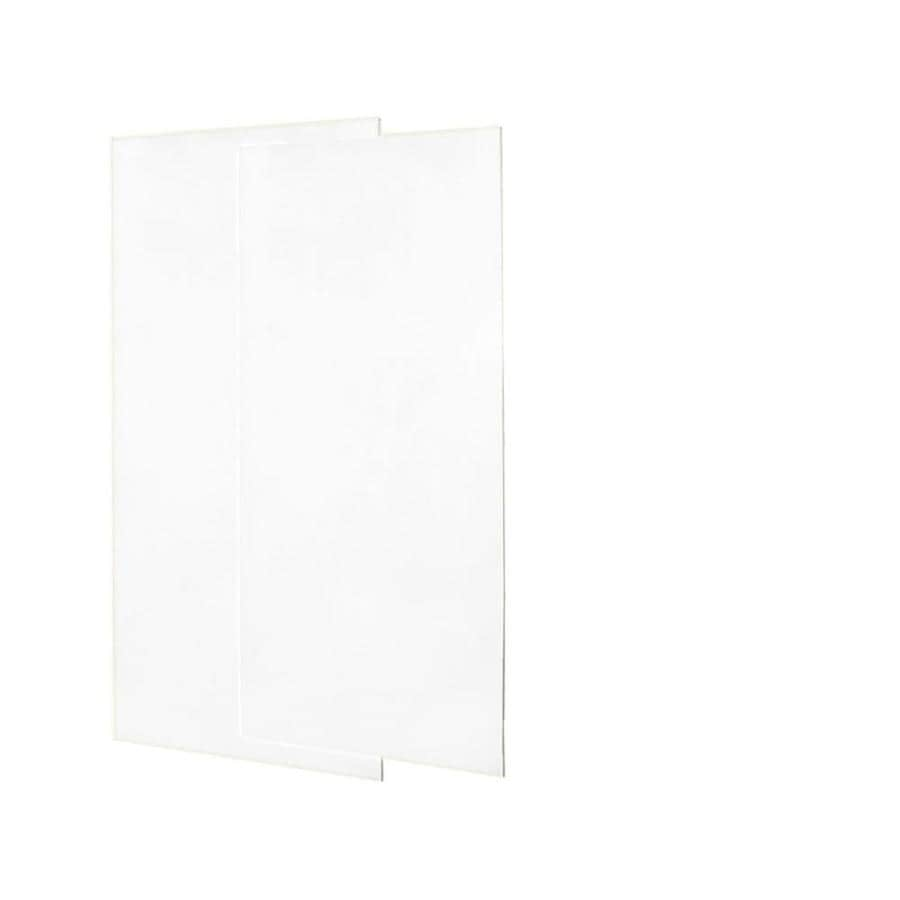 Swanstone White Shower Wall Surround Back Panel (Common: 0.25-in; Actual: 72-in x 0.25-in)