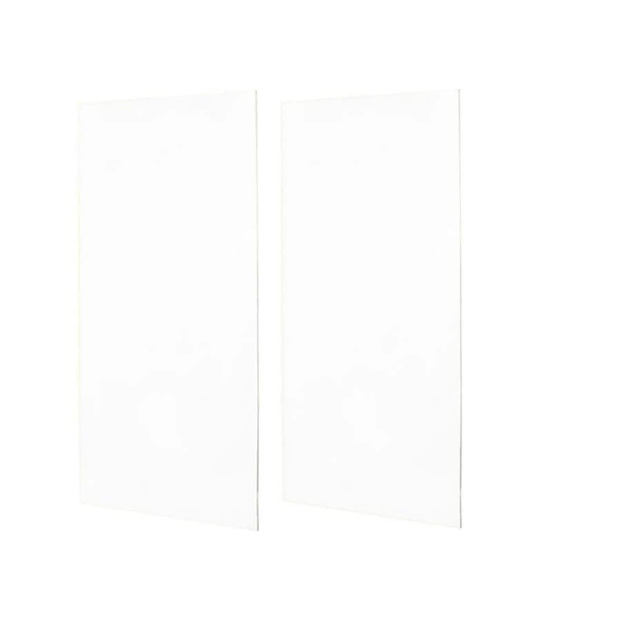 Swanstone White Shower Wall Surround Side Wall Panel Kit (Common: 0.25-in x 48-in; Actual: 96-in x 0.25-in x 48-in)