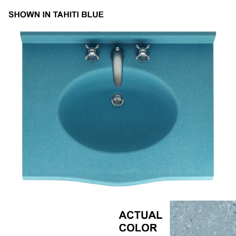 Shop Swanstone Europa 37-in W x 22-in D Tahiti Blue Composite ...