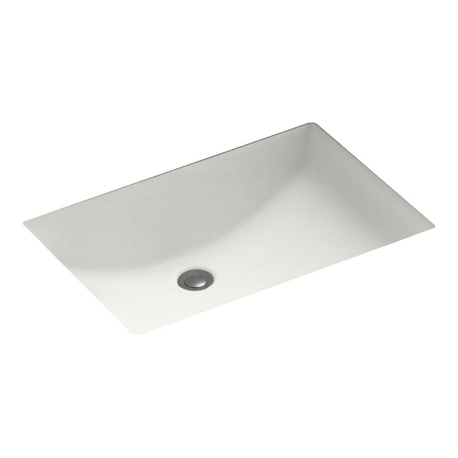 Shop swanstone bisque solid surface undermount rectangular for Swanstone undermount sinks