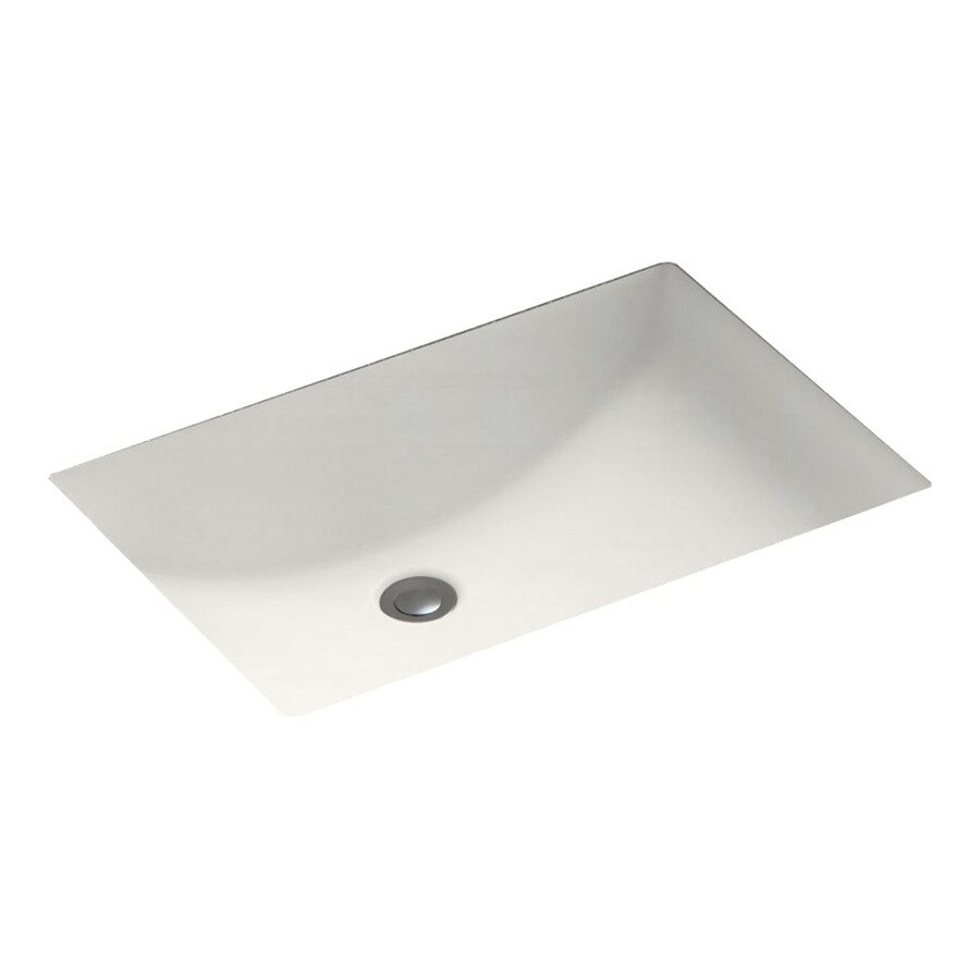 Shop Swanstone Bisque Solid Surface Undermount Rectangular Bathroom Sink And Overflow At