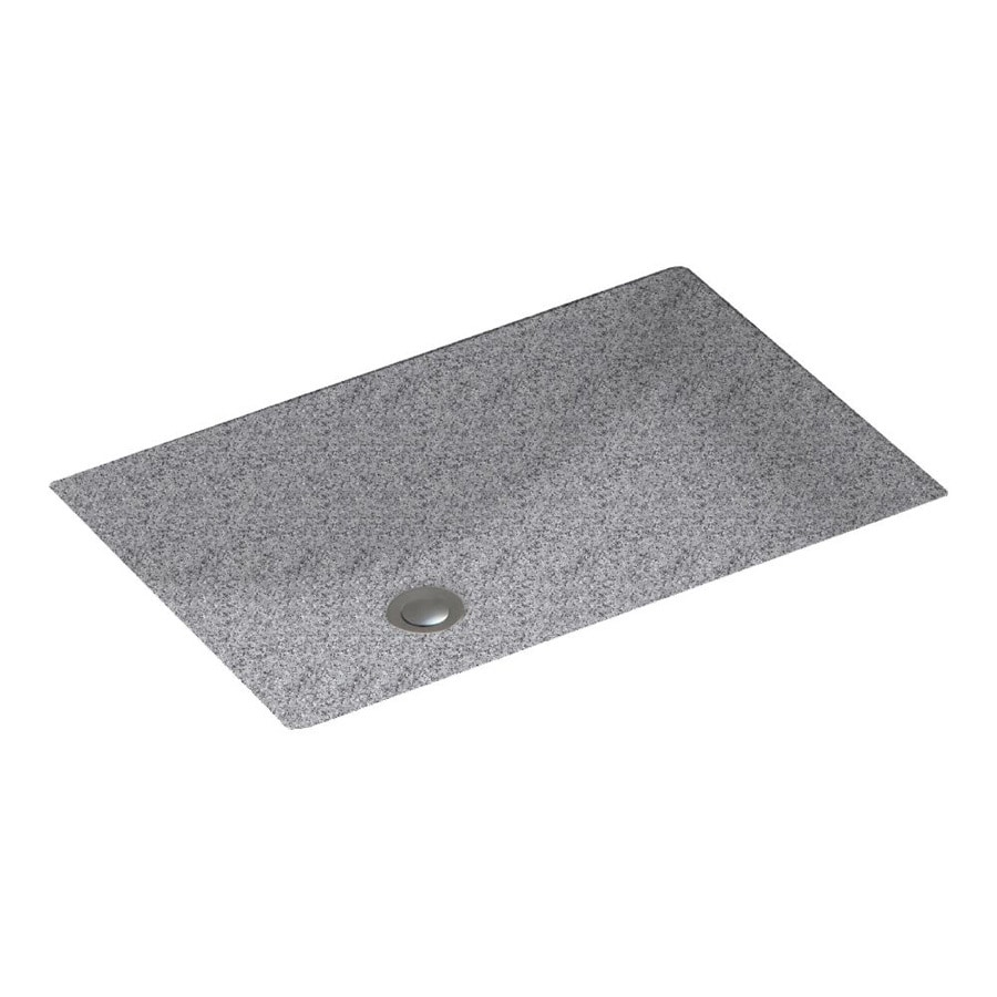 Shop swanstone gray granite solid surface undermount for Swanstone undermount sinks