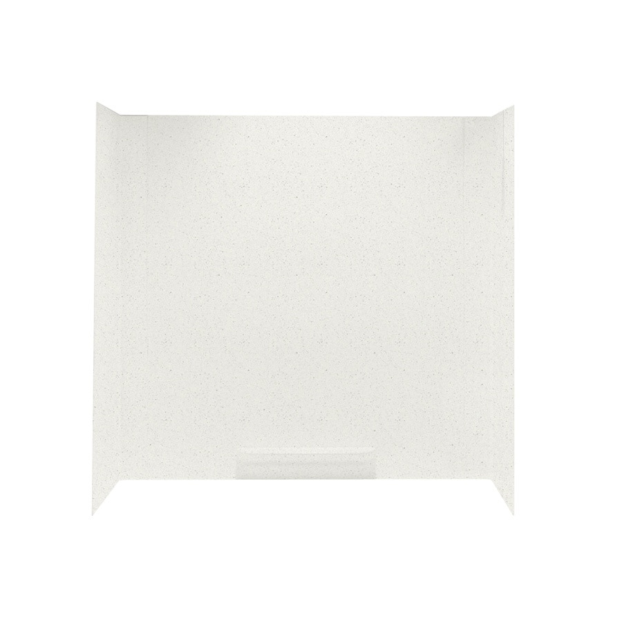 Swanstone Bisque Fiberglass and Plastic Composite Bathtub Wall Surround (Common: 30-in x 60-in; Actual: 58-in x 30-in x 60-in)