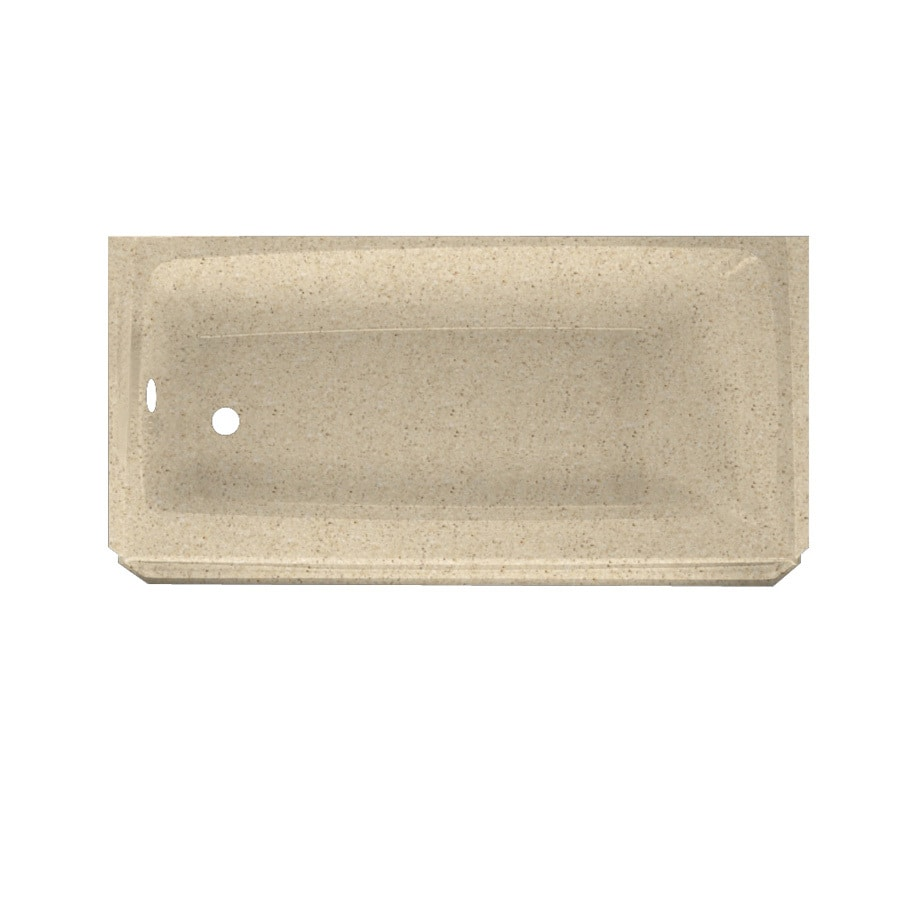Swanstone Veritek Bermuda Sand Fiberglass and Plastic Composite Rectangular Skirted Bathtub with Left-Hand Drain (Common: 30-in x 60-in; Actual: 16-in x 30-in x 60-in)