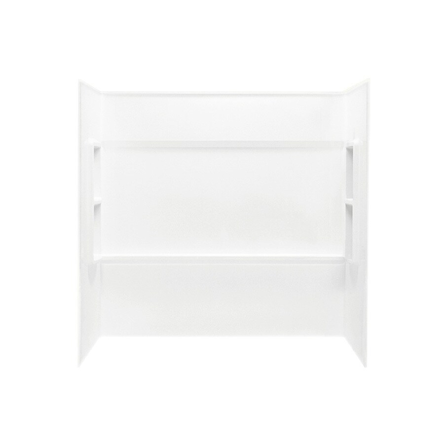 Swanstone White Fiberglass and Plastic Composite Bathtub Wall Surround (Common: 60-in x 30-in; Actual: 59.5-in x 60-in x 28.25-in)