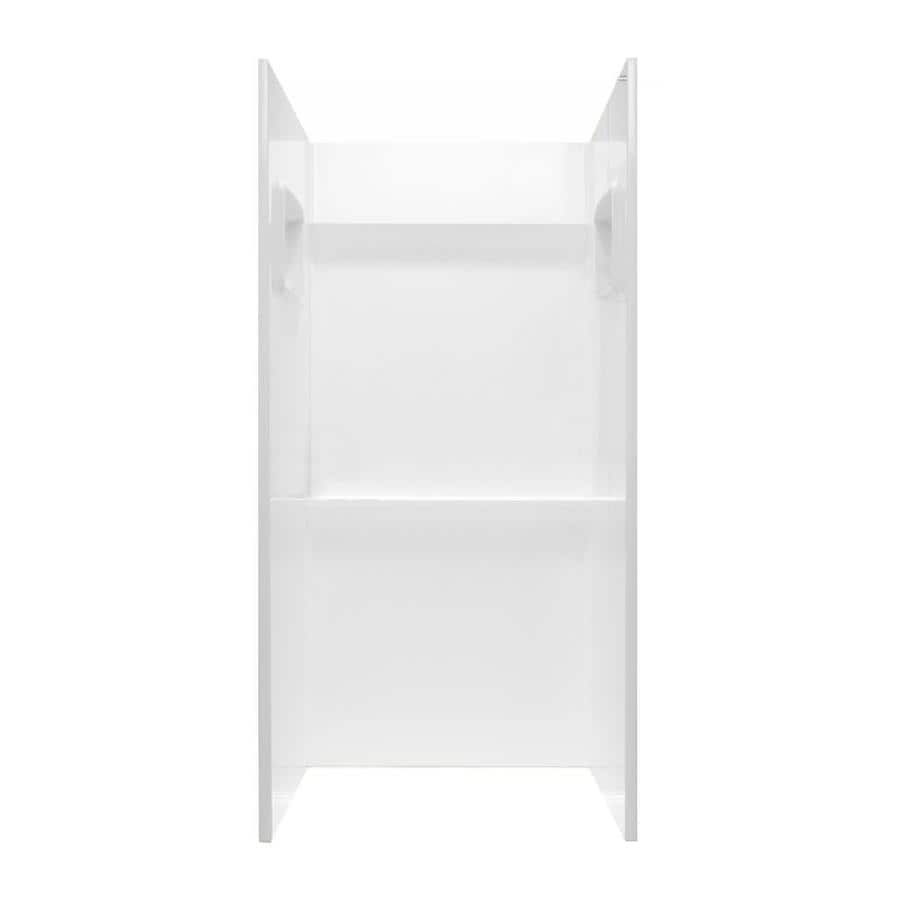 Swanstone White Shower Wall Surround Side and Back Wall Kit (Common: 32-in x 32-in; Actual: 72-in x 32-in x 32-in)