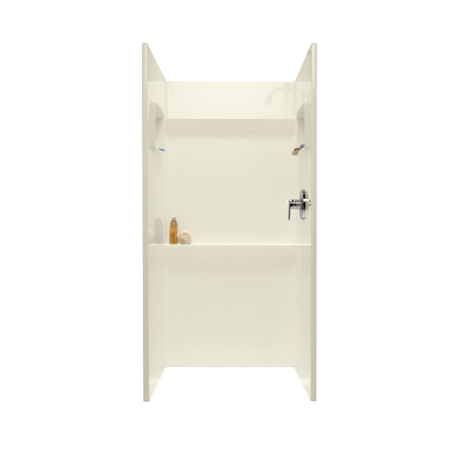 Swanstone Bone Shower Wall Surround Side and Back Wall Kit (Common: 36-in x 36-in; Actual: 72-in x 36-in x 36-in)