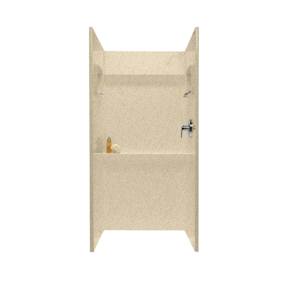 Swanstone Bermuda Sand Shower Wall Surround Side and Back Wall Kit (Common: 36-in x 36-in; Actual: 72-in x 36-in x 36-in)