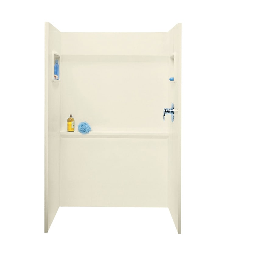 Swanstone Bone Shower Wall Surround Side and Back Wall Kit (Common: 48-in x 34-in; Actual: 72-in x 48-in x 34-in)