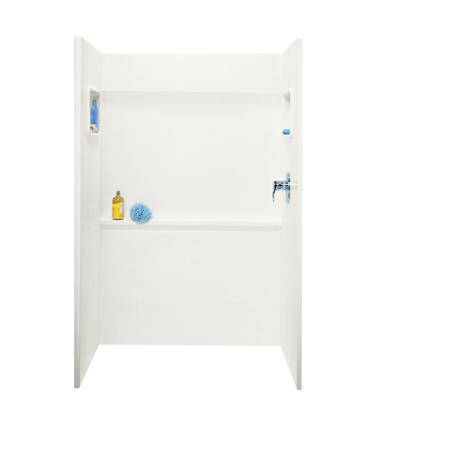 Swanstone Bisque Shower Wall Surround Side And Back Wall Kit (Common: 48-in x 34-in; Actual: 72-in x 48-in x 34-in)
