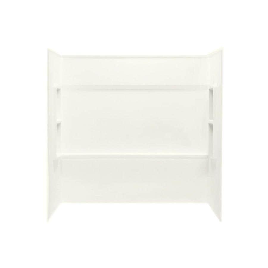 Swanstone Bisque Fiberglass and Plastic Composite Bathtub Wall Surround (Common: 60-in x 30-in; Actual: 59.5-in x 60-in x 28.25-in)