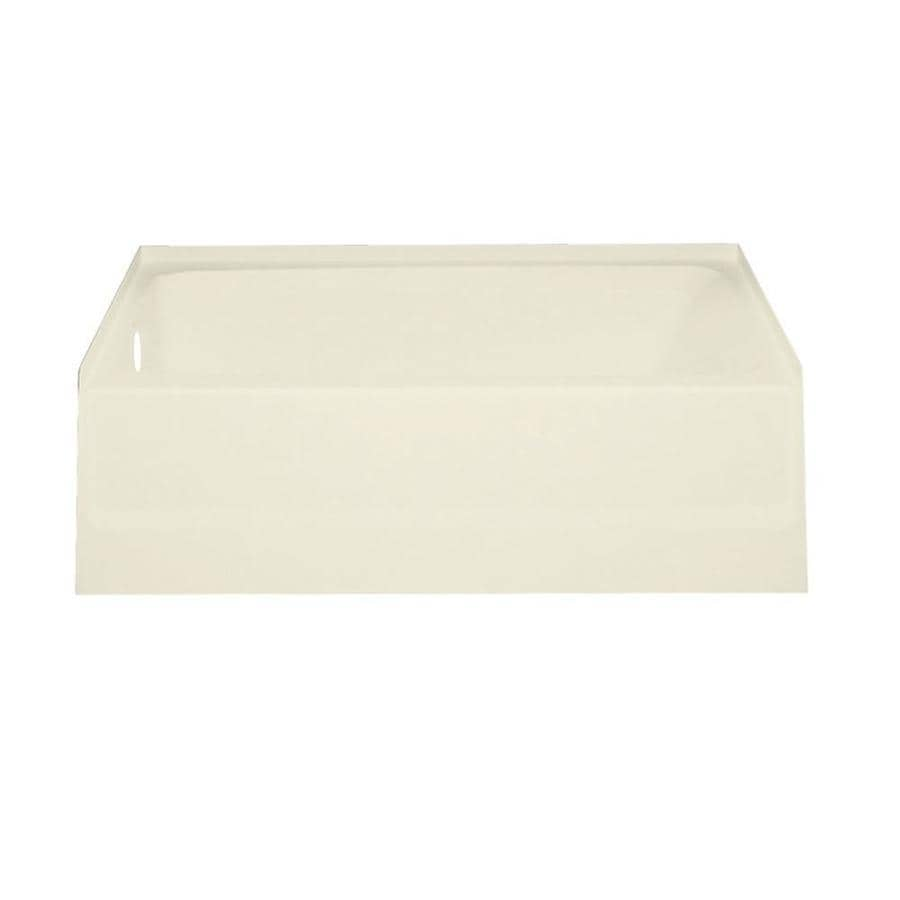 Swanstone Veritek Bone Fiberglass and Plastic Composite Rectangular Skirted Bathtub with Left-Hand Drain (Common: 30-in x 60-in; Actual: 16-in x 30-in x 60-in)