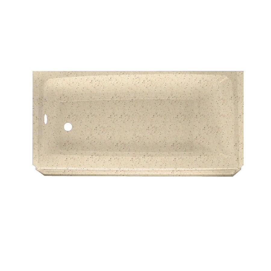 Swanstone Veritek Tahiti Desert Fiberglass/Plastic Composite Rectangular Skirted Bathtub with Left-Hand Drain (Common: 30-in x 60-in; Actual: 16-in x 30-in x 60-in)