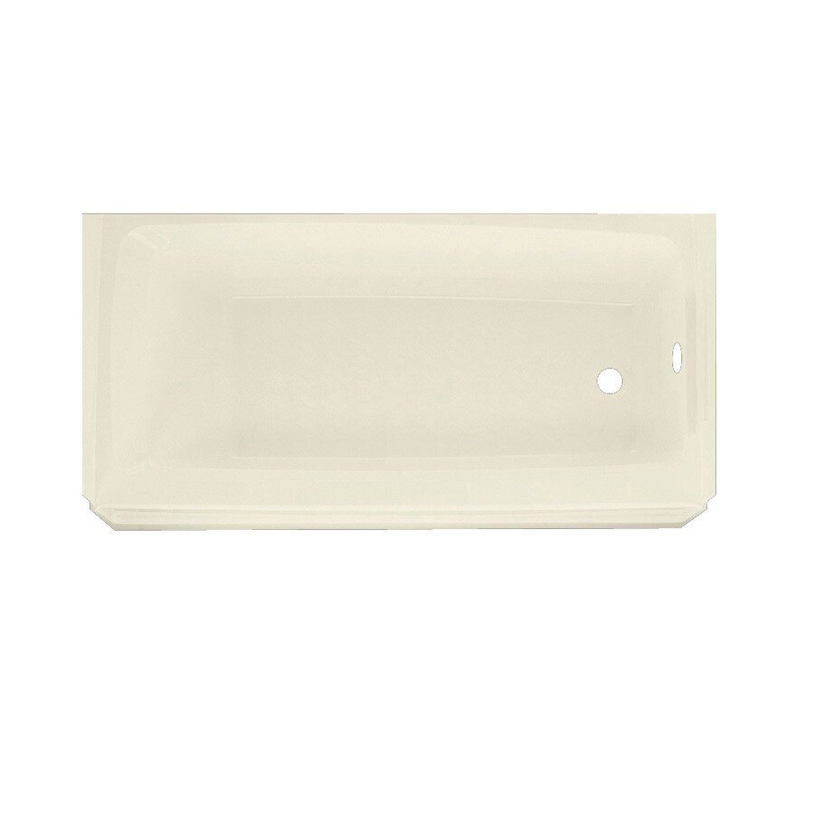 Swanstone Veritek 60-in Bone Veritek Skirted Bathtub with Right-Hand Drain