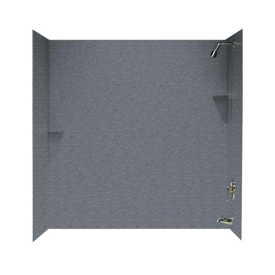 Swanstone Night Sky Solid Surface Bathtub Wall Surround (Common: 30-in x 60-in; Actual: 60-in x 30-in x 60-in)