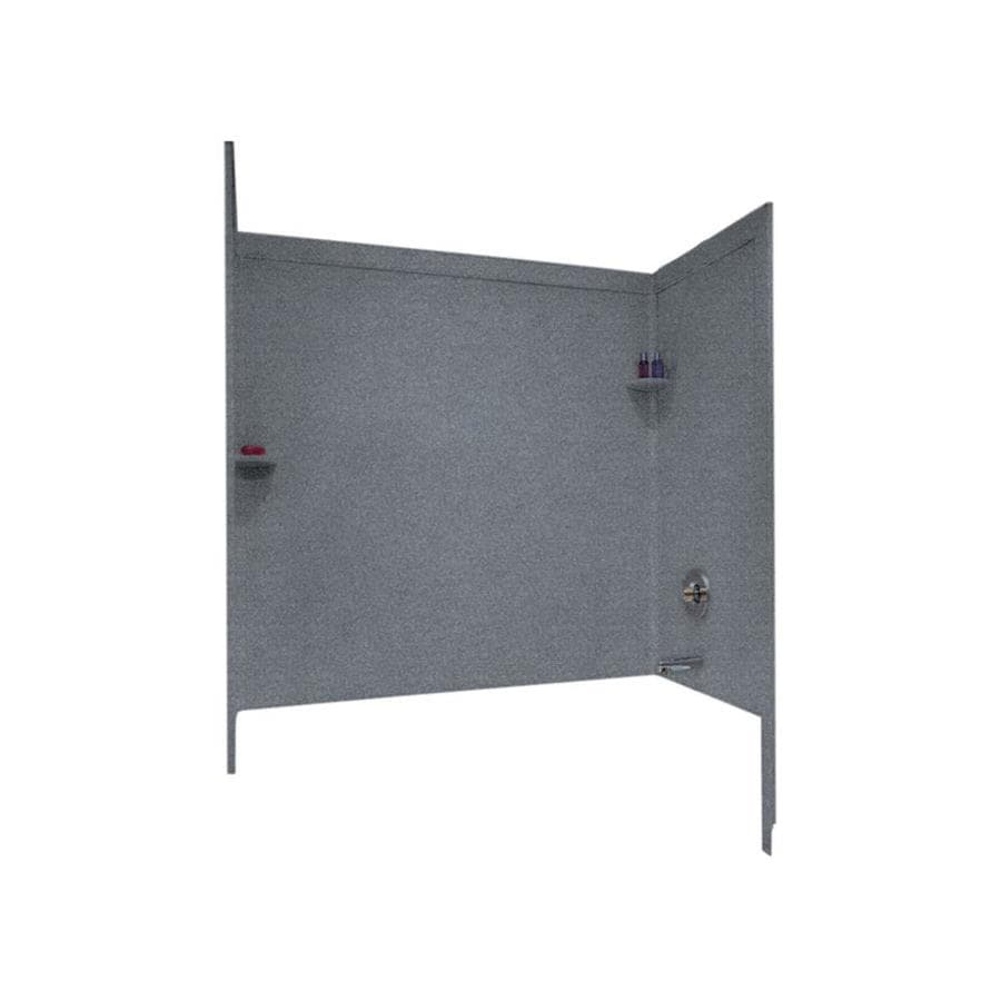 Swanstone Night Sky Solid Surface Bathtub Wall Surround (Common: 33-in x 60-in; Actual: 60-in x 33.5-in x 60-in)