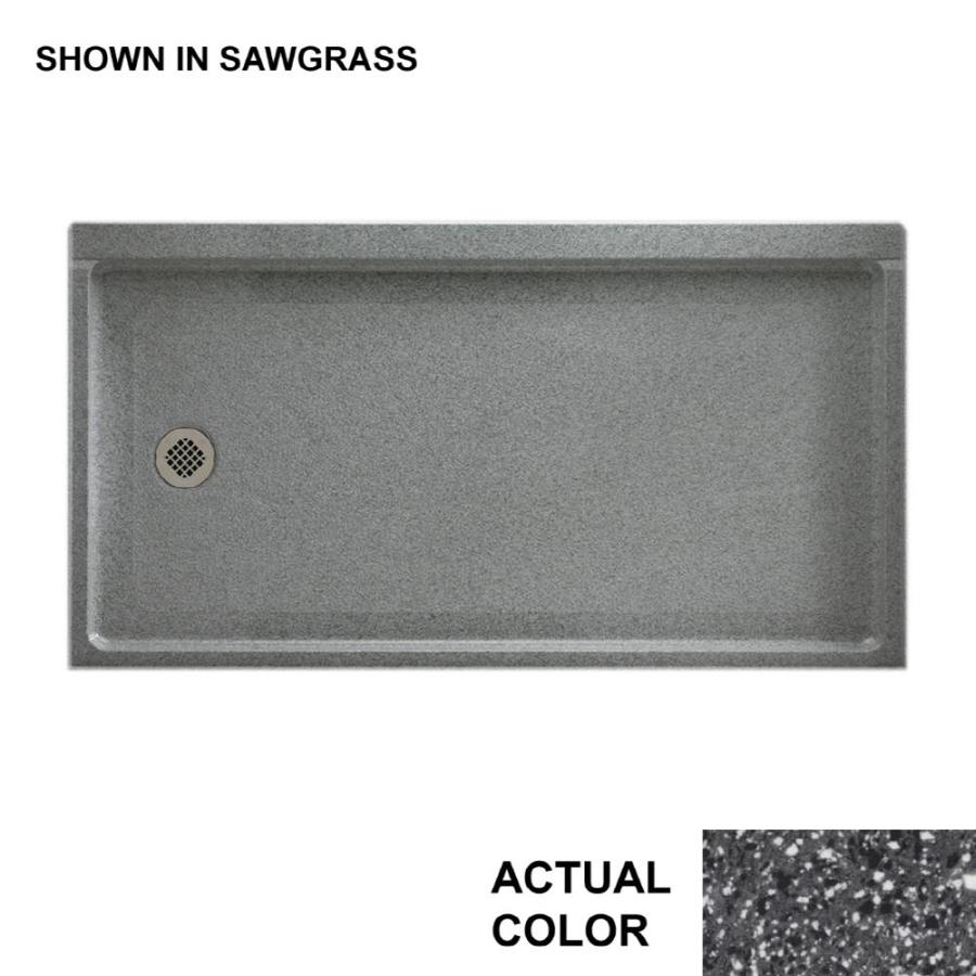 Swanstone Contour Night Sky Solid Surface Integral Single Sink Bathroom Vanity Top (Common: 31-in x 22-in; Actual: 31-in x 22-in)