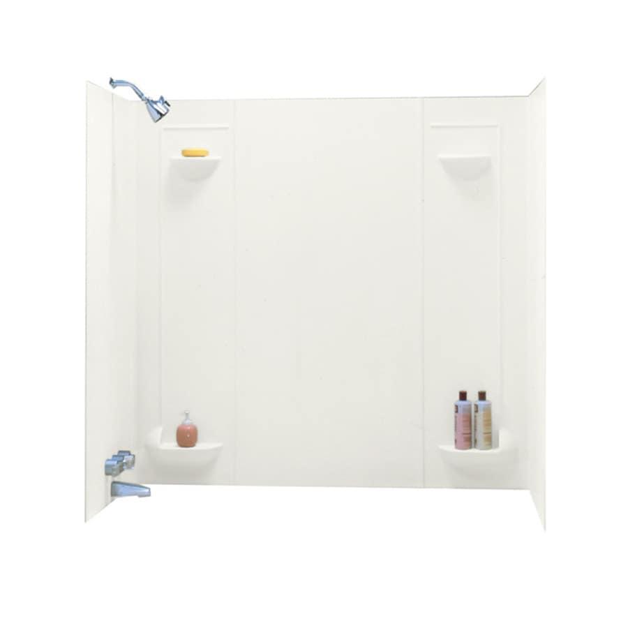 Shop Swanstone Bisque Fiberglass/Plastic Composite Bathtub Wall ...
