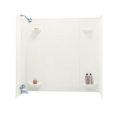 Bisque Fibergl Plastic Composite Bathtub Wall Surround Common 30 In X 60 Actual 57