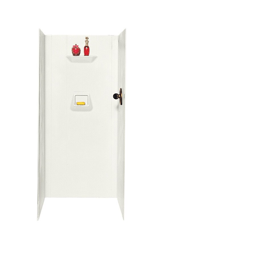 Swanstone Bisque Shower Wall Surround Side and Back Wall Kit (Common: 32-in x 32-in; Actual: 70-in x 32-in x 32-in)