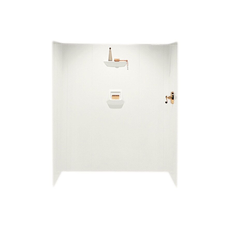 Swanstone High-Gloss Biscuit Shower Wall Surround Side and Back Walls (Common: 60-in x 36-in; Actual: 70-in x 60-in x 36-in)