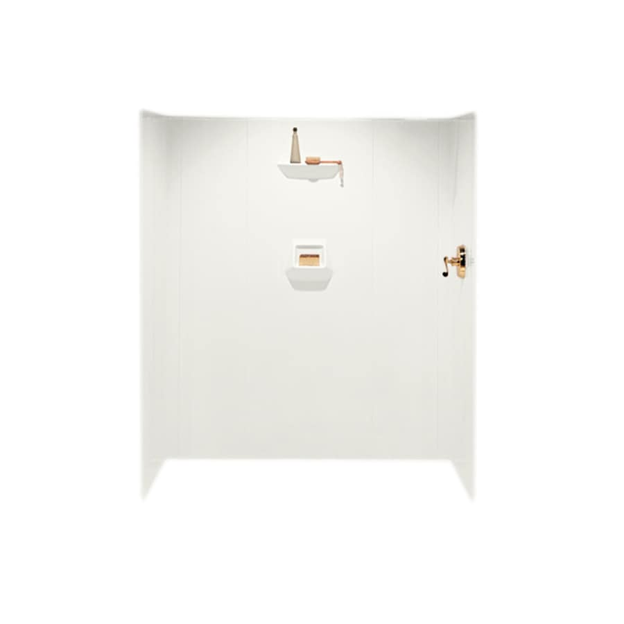 Swanstone Bisque Shower Wall Surround Side and Back Wall Kit (Common: 36-in x 36-in; Actual: 70-in x 36-in x 36-in)