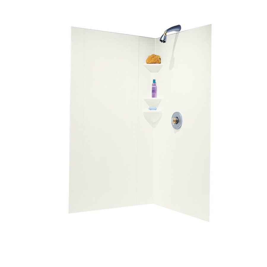 Swanstone Bisque Shower Wall Surround Corner Wall Kit (Common: 38-in x 38-in; Actual: 70-in x 39-in x 38-in)