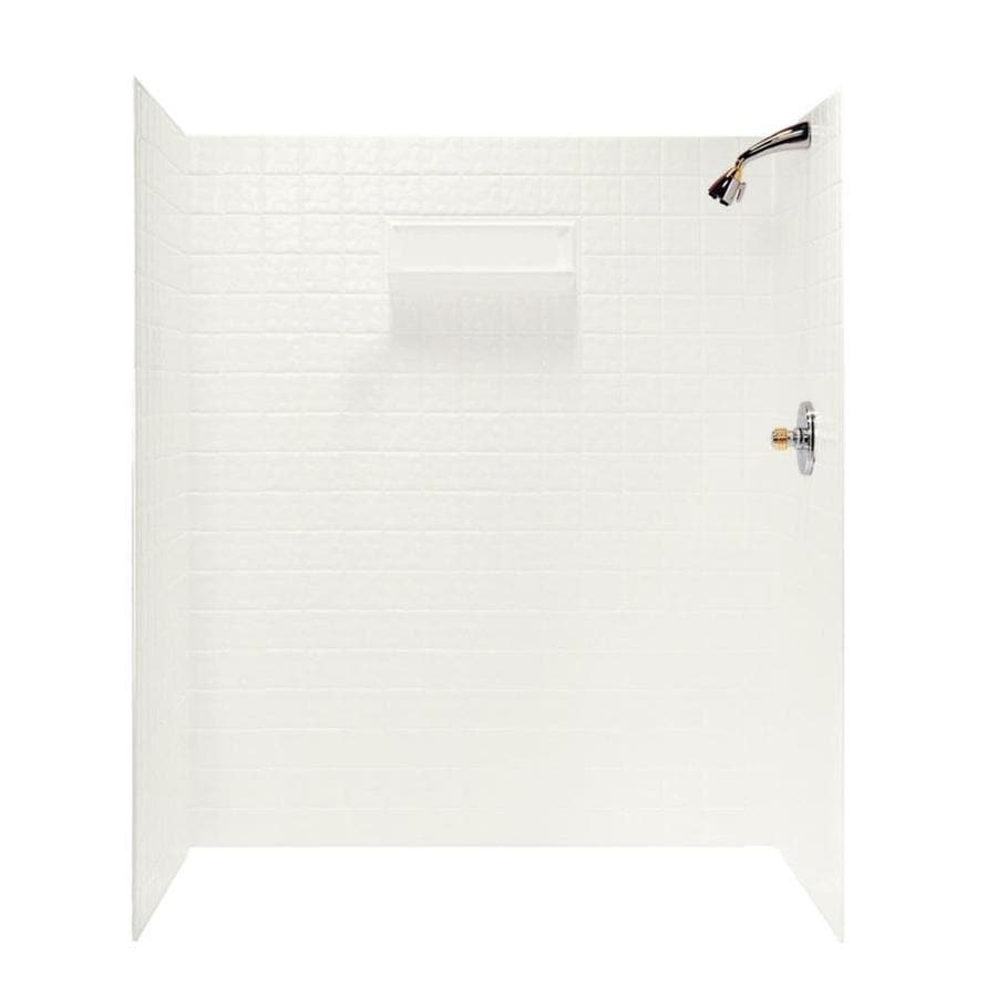 Swanstone Bisque Shower Wall Surround Side and Back Wall Kit (Common: 36-in x 60-in; Actual: 72-in x 36-in x 60-in)
