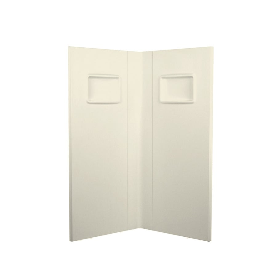 Swanstone Bone Shower Wall Surround Corner Wall Panel (Common: 38-in; Actual: 73.25-in x 37.5-in)