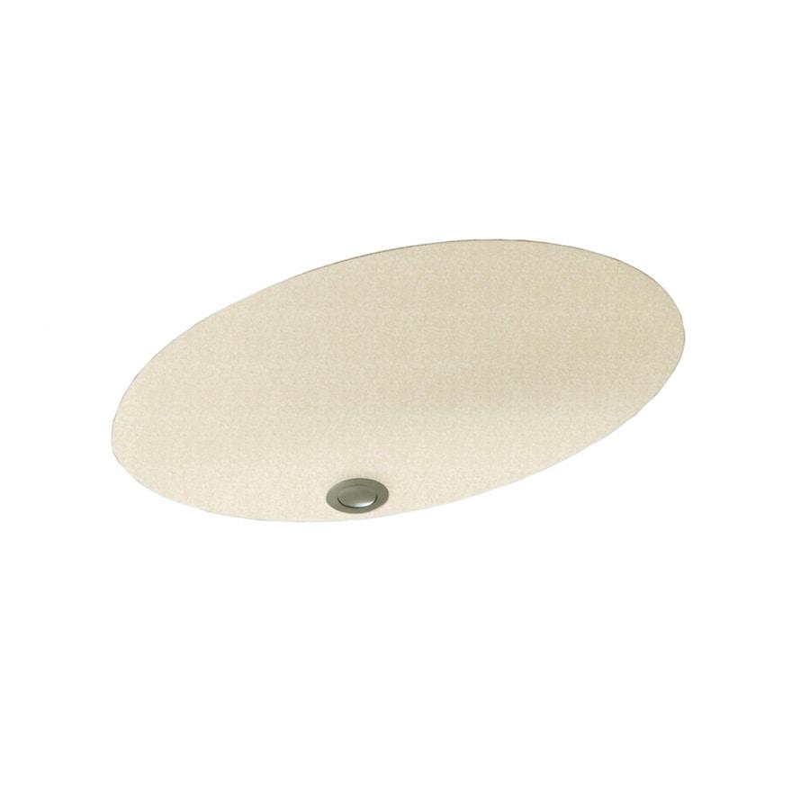 shop swanstone cornflower solid surface undermount oval