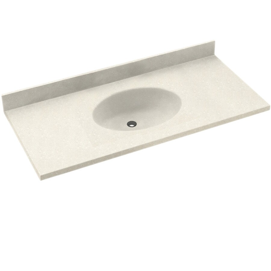 Swanstone Chesapeake Bisque Solid Surface Oval Bathroom Vanity Top Common 37 In X