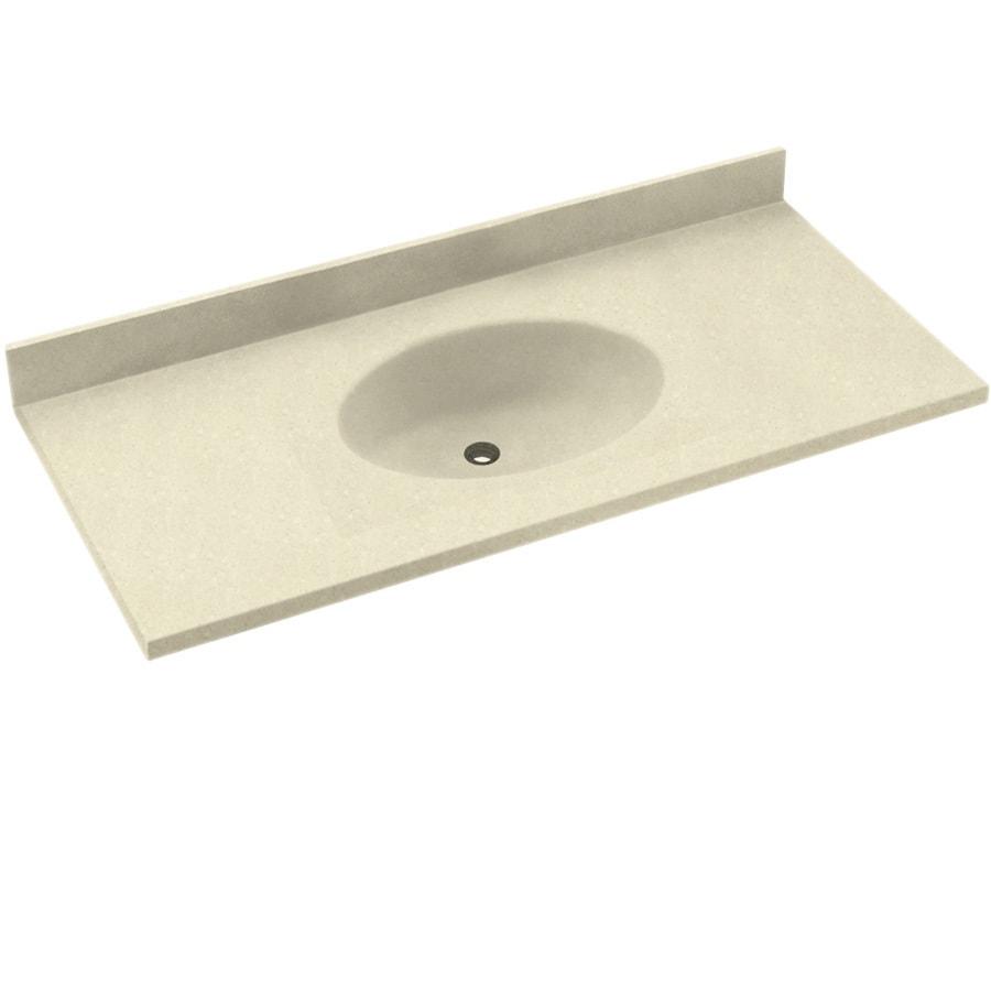 Etonnant Swanstone Chesapeake Bone Solid Surface Oval Bathroom Vanity Top (Common:  43 In X