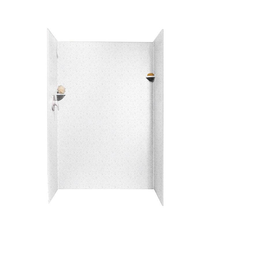 Swanstone Arctic Granite Shower Wall Surround Side And Back Wall Kit (Common: 34-in x 48-in; Actual: 72-in x 34-in x 48-in)