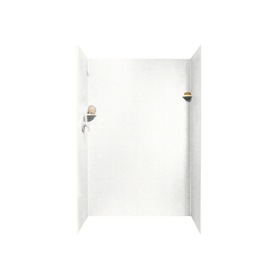 Swanstone Tahiti White Shower Wall Surround Side And Back Wall Kit (Common: 34-in x 48-in; Actual: 72-in x 34-in x 48-in)