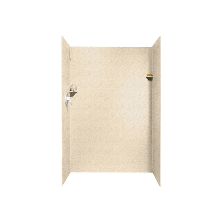 Swanstone Tahiti Sand Shower Wall Surround Side and Back Panels (Common: 34-in; Actual: 72-in x 34-in)
