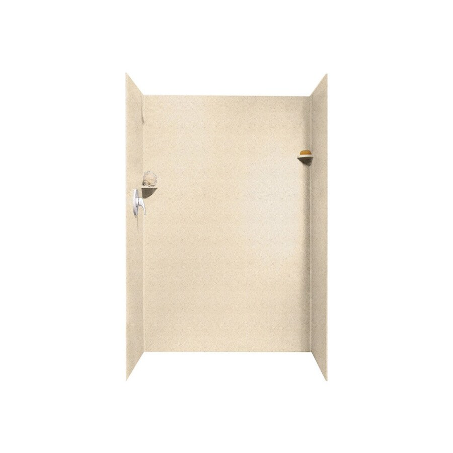 Swanstone Tahiti Sand Shower Wall Surround Side And Back Wall Kit (Common: 34-in x 48-in; Actual: 72-in x 34-in x 48-in)