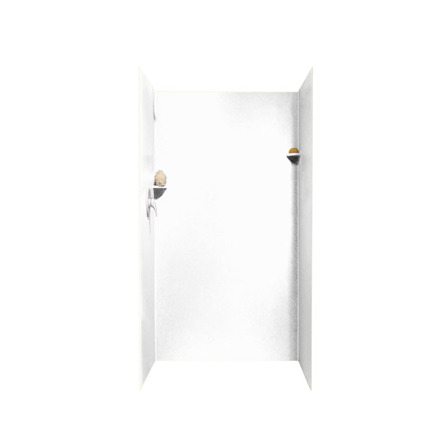 Swanstone White Shower Wall Surround Side And Back Wall Kit (Common: 36-in x 36-in; Actual: 72-in x 36-in x 36-in)